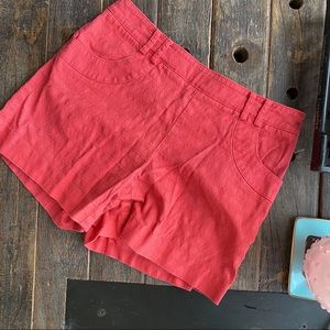 Elevens Anthropologie Red Shorts